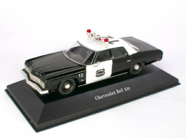 Atlas KW03 1/43 O Scale USA Norwich Police Chevrolet Bel Air USA - 1973